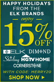 Happy Holidays from ELK Brands! 20% OFF ELK, DIMOND, STERLING, HGTV HOME & CORNERSTONE!