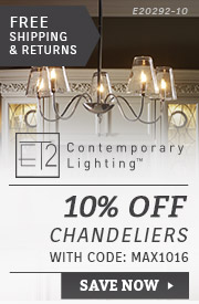 10% Off ET2 Lighting Chandeliers