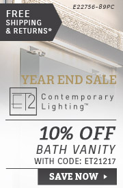 ET2 | 10% OFF Bath Vanity Lighting