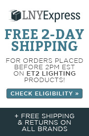 LNY Express | Free 2-Day Shipping for orders placed before 2pm est. on ET2 Lighting Products | Check Eligibility | + Free shipping & returns on all brands