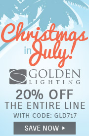 Golden Lighting | Christmas in July | 20% Off the Entire Line