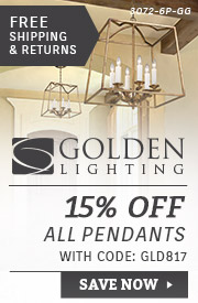 Golden Lighting | 15% Off All Pendants