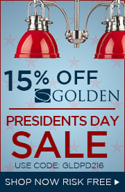 Golden Lighting Presidents Day Sale | 15% off the Entire Line!