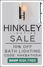 10% OFF HINKLEY BATH LIGHTING!