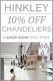 10% OFF HINKLEY CHANDELIERS!