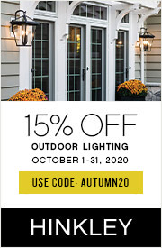 15% Off Hinkley Outdoor | October 1-31, 2020 | Use Code: AUTUMN20