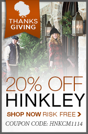 Save 20% on HINKLEY!