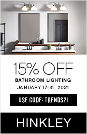 Hinkley | 15% Off Bathroom Lighting | January 17 - 31, 2021 | Use Code: TRENDS21 | Shop Now