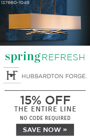 Spring Refresh | Hubbardton Forge | 15% Off the Entire Line | No Code Required | Save Now