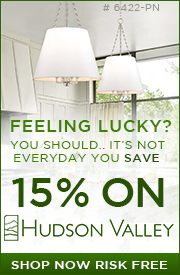 FEELING LUCKY? You Should.. it's not everyday you SAVE 15% on HUDSON VALLEY!