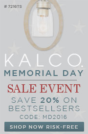 Kalco Lighting | Memorial Day Sale | 20% Off Bestsellers