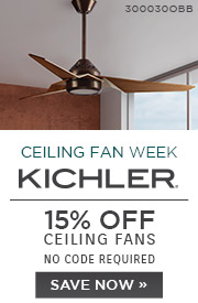 National Ceiling Fan Week | Kichler | 15% OFF Ceiling Fans | no code required