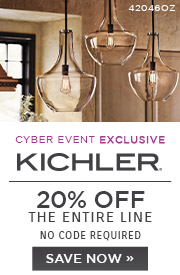 Cyber Event Exclusive | Kichler | 20% OFF The Entire Line | no code required | Save Now