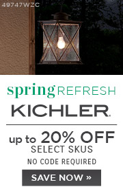 Spring Refresh | Kichler | 15% Off Select Skus | No Code Required | Save Now