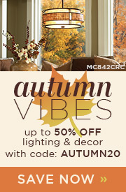 Autumn Vibes | up to 50% OFF Lighting & Decor | with code: AUTUMN20