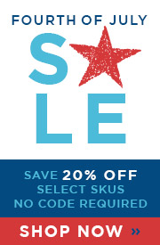Fourth of July Sale | 20% Off Select Skus | No Code Required | Save Now
