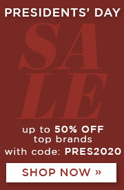 Presidents' Day Sale | Up to 50% Off Top Brands | With Code: PRES2020 | Shop Now