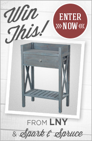 Enter for your chance to WIN a RUSTIC BLUE SIDE TABLE!