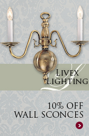Save 10% on LIVEX WALL SCONCES!