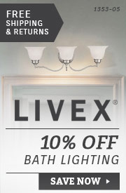 Livex | 10% Off Bathroom Lighting