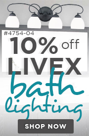 10% Off Livex BATH LIGHTING!
