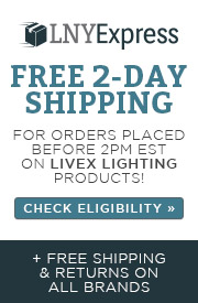 LNY Express | Free 2-Day Shipping for orders placed before 2pm est. on Livex Lighting Products | Check Eligibility | + Free shipping & returns on all brands