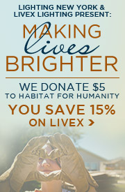 We Donate $5 to Habitat For Humanity with Every LIVEX Purchase... YOU SAVE 15%!