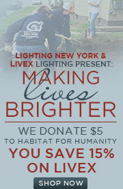 You save 15% on Livex Lighting, WE donate $5 to Habitat for Humanity! (COPY)