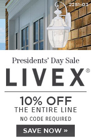 Presidents' Day Sale | Livex | 10% OFF The Entire Line | no code required | Save Now