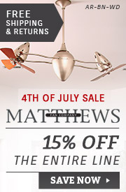 Matthews Fan Co. | 4th of July Sale | 15% Off the Entire Line
