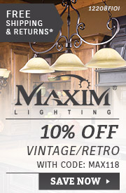 Maxim | 10% OFF Vintage & Retro Lighting