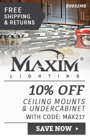 Maxim Lighting | 10% Off Ceiling Mounts & Undercabinet
