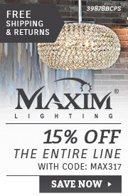 Maxim Lighting | 15% Off the Entire Line