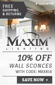 Maxim Lighting | 10% Off Wall Sconces
