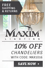 10% Off Maxim Chandeliers