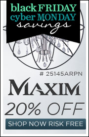 Maxim Lighting l 20% off the entire line