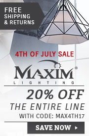 Maxim Lighting | 4th of July Sale | 20% Off the Entire Line