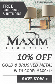 Maxim Lighting | 10% Off Gold & Brushed Metal