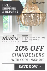 Maxim & ET2 Lighting | 10% Off Chandeliers