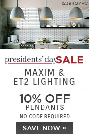Presidents' Day Sale | Maxim & ET2 Lighting | 10% Off Pendants | No Code Required | Save Now (COPY)