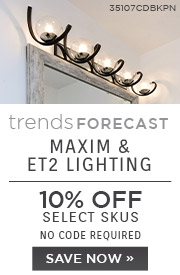 Trends Forecast | Maxim & ET2 Lighting | 10% Off Select Skus | No Code Required | Save Now