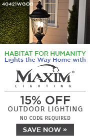 Habitat for Humanity | 15% Off Outdoor Lighting | No Code Required | Save Now