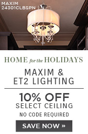 Home for the Holidays | Maxim & ET2 Lighting | 10% Off Ceiling Lights | No Code Required | Save Now