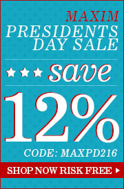 12% Off Maxim Presidents Day Sale