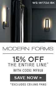 Modern Forms | 15% OFF The Entire Line | with code: MF918