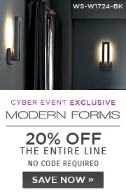 Cyber Event Exclusive | Modern Forms | 20% OFF The Entire Line | no code required | Save Now