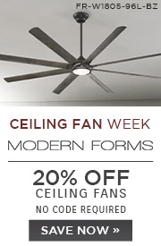 Ceiling Fan Week | Modern Forms | 20% OFF Ceiling Fans | No Code Required | Save Now