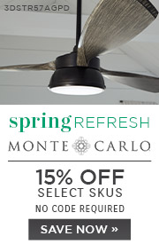 Spring Refresh | Monte Carlo Fans | 15% Off Select Skus | No Code Required | Save Now