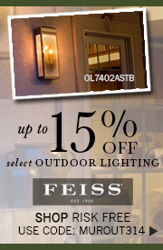 Up to 15% OFF select FEISS Outdoor Lighting!