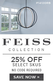 Feiss Collection | 25% OFF Select Skus | No Code Required | Save Now